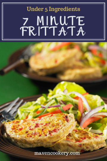 Dive into a vegetable frittata that is ready in 7 minutes with only 4 ingredients. Easy to make in a skillet or a breakfast sandwich maker. #breakfastrecipes #breakfastideas #breakfast #breakfastsandwich #castiron