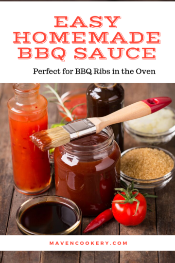 Easy Homemade BBQ Sauce perfect for my Amazing BBQ Ribs in the Oven #bbqsauce #barbecuesauce #easybbqsauce #homemadebbqsauce #bbqribs #barbecueribs