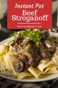 Instant Pot Beef Stroganoff pin 1