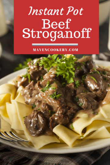 Instant Pot Beef Stroganoff pin 2