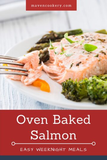 Oven-baked Salmon. Flaky, moist, and perfectly seasoned. Served with sautéed broccoli and vegetables. #ovenbakedsalmon #salmon #bakedsalmon #sauteedbroccoli #easyweeknightmeals #healthyrecipes #familydinner #familyfriendly #familymeals #easyrecipes #easyweeknightdinner #healthymeals #healthyfoods