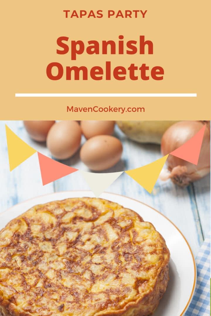 Spanish Omelette made with potatoes, eggs, onions, and olive oil. #spanishomelette #spanishtortilla #tapas
