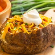 air fryer baked potato with green beans 12x 1