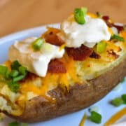 air fryer baked potato with toppings 12x