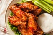 air fryer chicken wings 3x2 top down