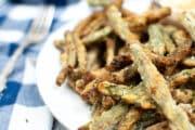 air fryer green beans breaded closeup 2x3 1