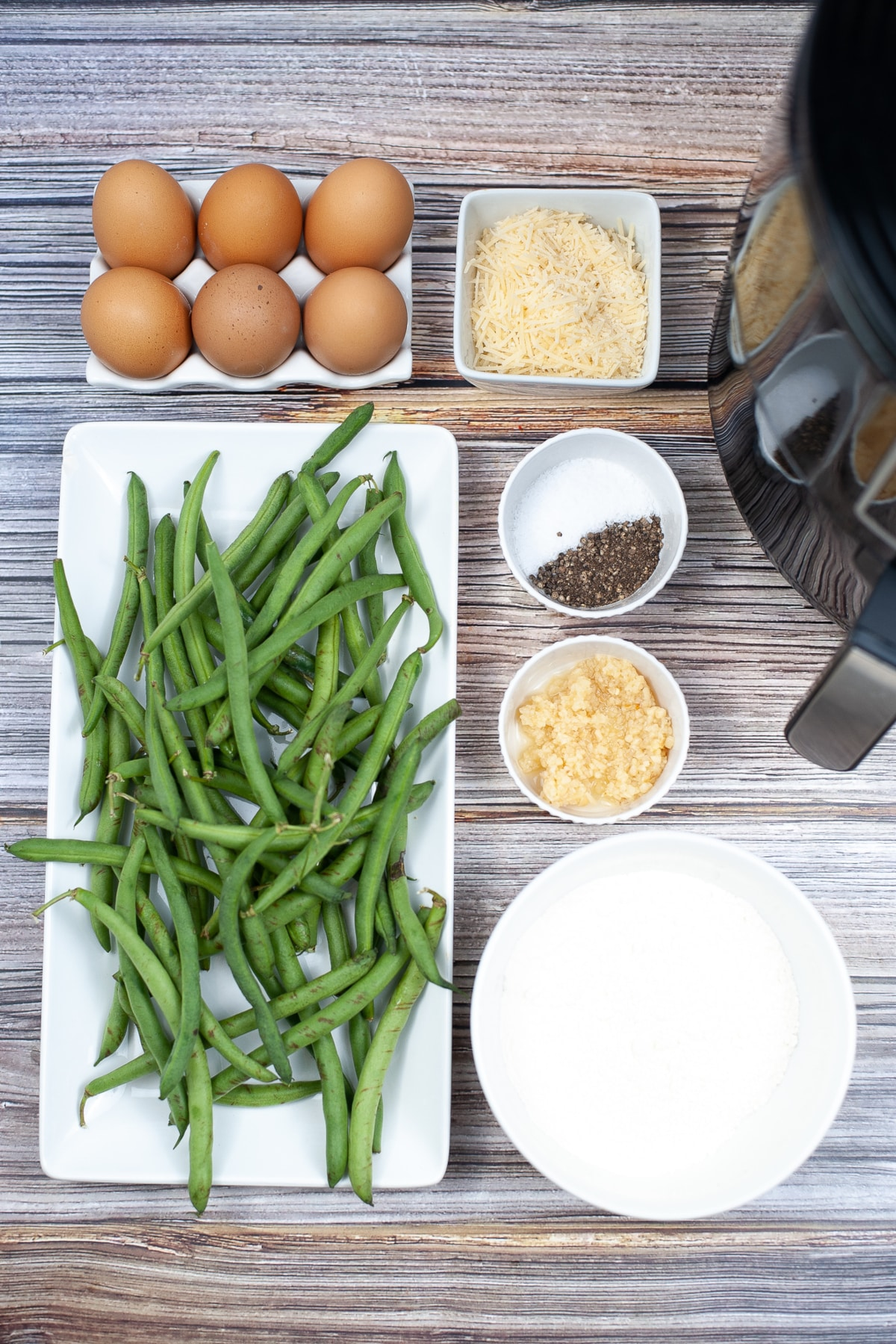 Ingredients for air fryer green beans