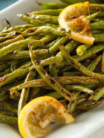 air fryer green beans lemon 12sq