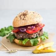 air fryer hamburgers