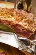 baby back pork ribs dry rub seasoning foil