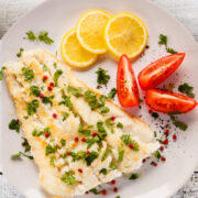 Baked Cod Recipe with butter, garlic, and seasonings