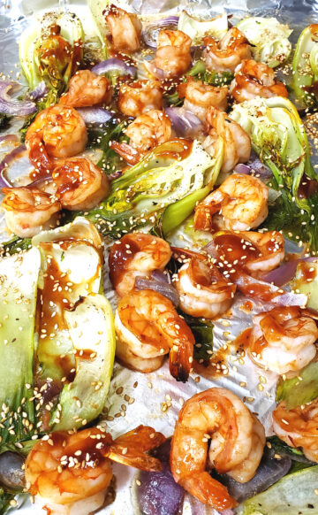 Baked Shrimp and Chinese Cabbage with Sambal