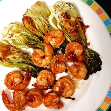 Baked Shrimp and Chinese Cabbage