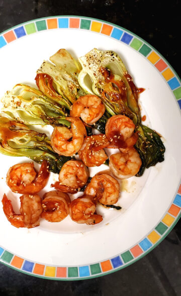 Baked Shrimp and Chinese Cabbage with Sambal BBQ Sauce