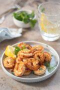 blackened shrimp scaled