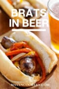 brats in beer pin