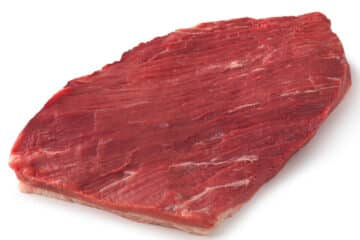 raw cut of a beef brisket flat