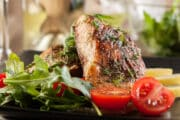 broiled salmon 12x8 with salad