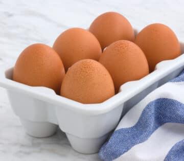 Fresh Eggs in Crate