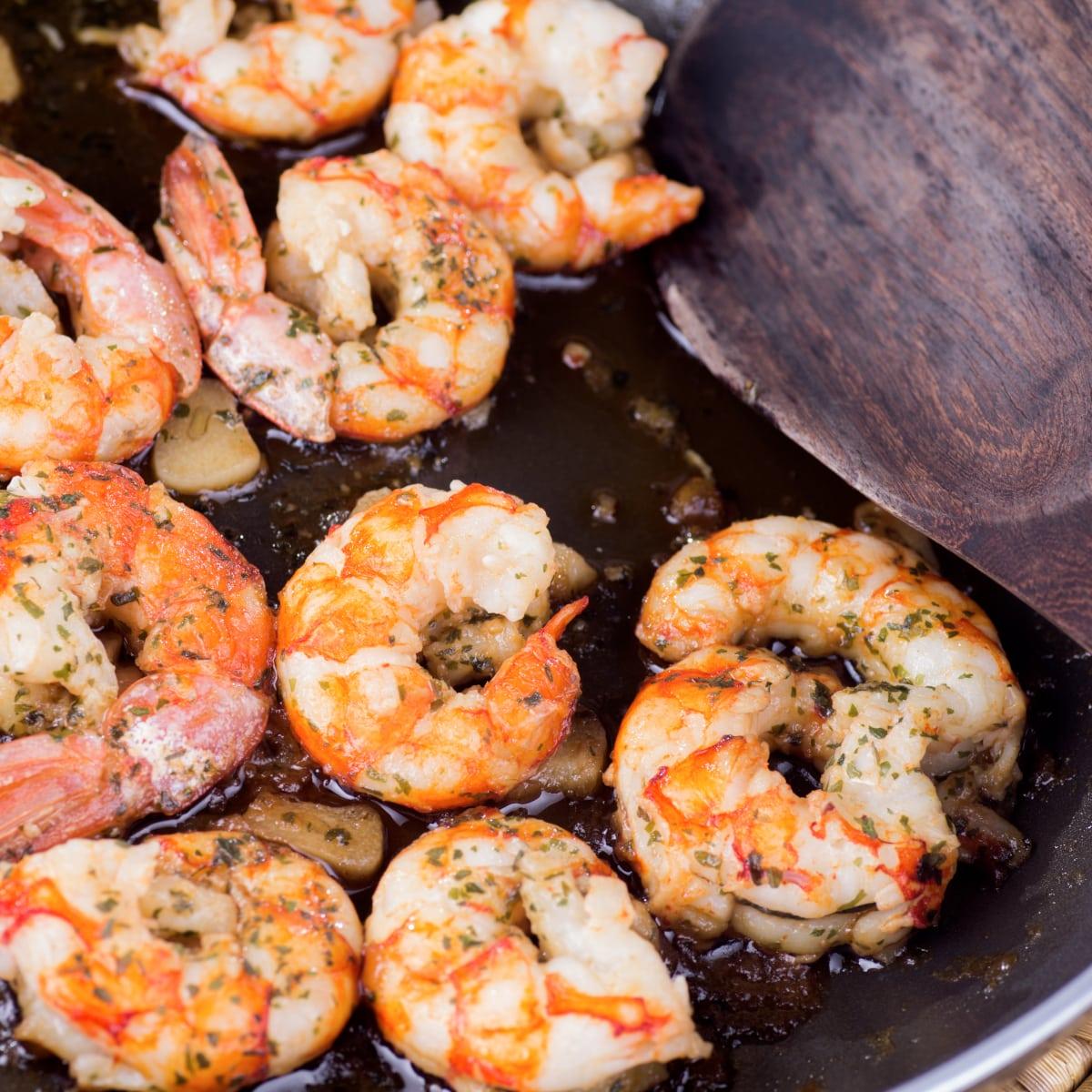 skillet cooked deviled shrimp