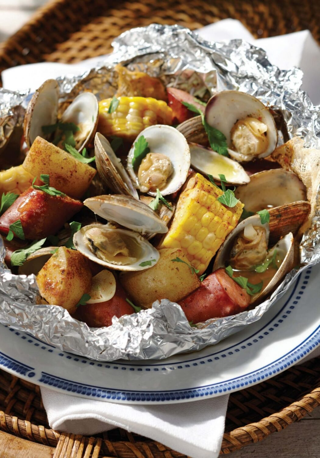 Easy Clam Bake Recipe in a Foil Packet: Ready for the Grill