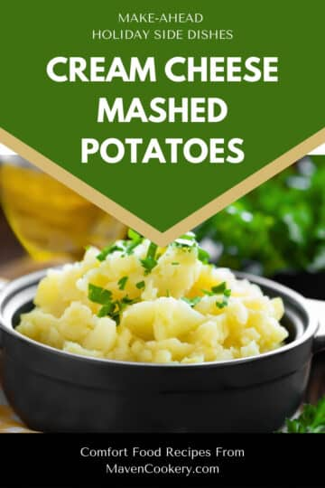 creamed cheese mashed potatoes pin