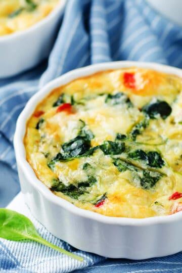 crustless quiche spinach