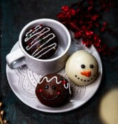 decorated hot chocolate bombs faces