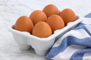 Eggs in Crate ready to make Instant Pot Boiled Eggs