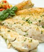 flaky pan fried cod