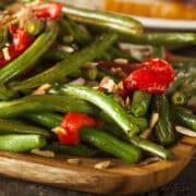 green beans pimientos