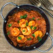 hunan shrimp in pan 12x