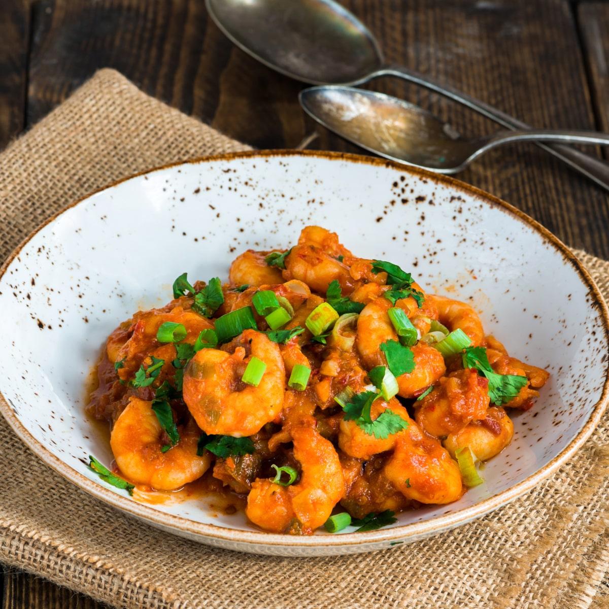 hunan shrimp served