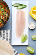 ingredients for fish tacos