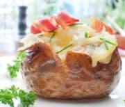 instant pot baked potato closeup