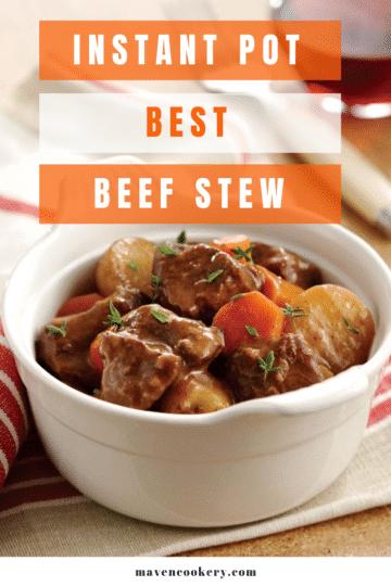 Instant Pot Best Beef Stew with beef, potato, and carrot chunks. #instantpot #beefstew #instantpotbeefstew #bestbeefstew