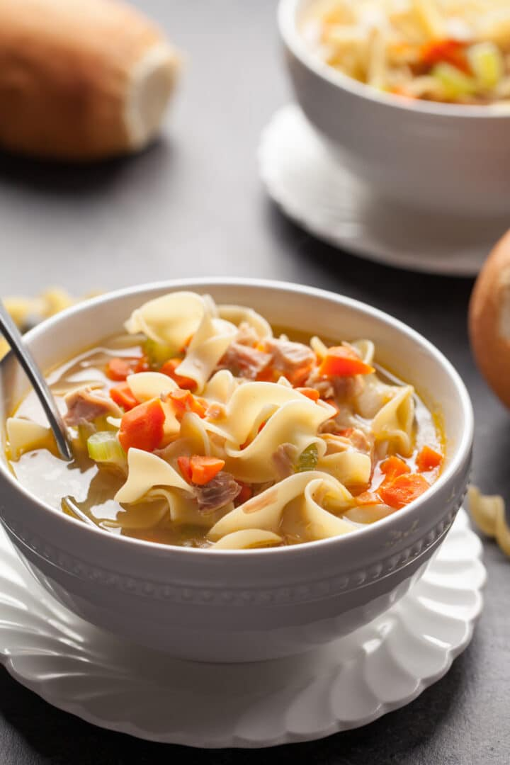 Instant Pot Chicken Noodle Soup is pure comfort food in a bowl