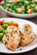 instant pot frozen chicken breasts plated