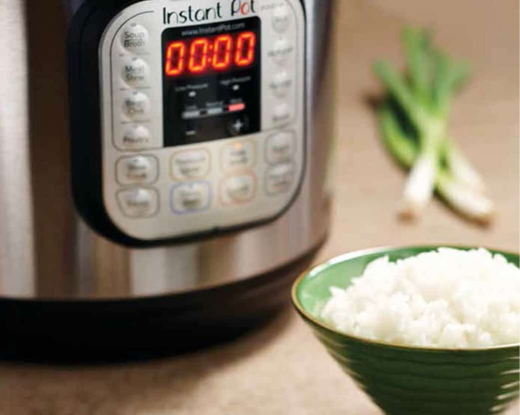 Instant Pot function panel with cooking choices