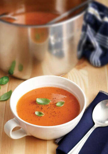 Instant Pot inner liner with tomato soup