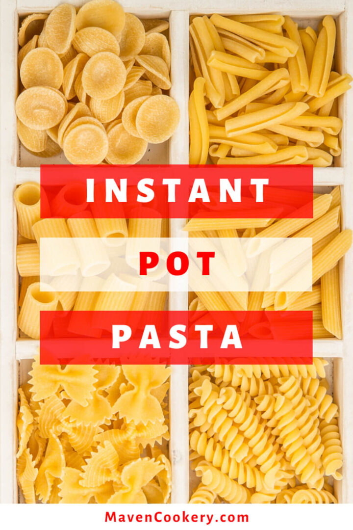 Instant Pot Pasta. An assortment of #orecchiette, #cavatelli, #ziti, #penne, #farfalle, and #rotini #instantpotpasta #easypasta