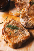 instant pot pork chops resting