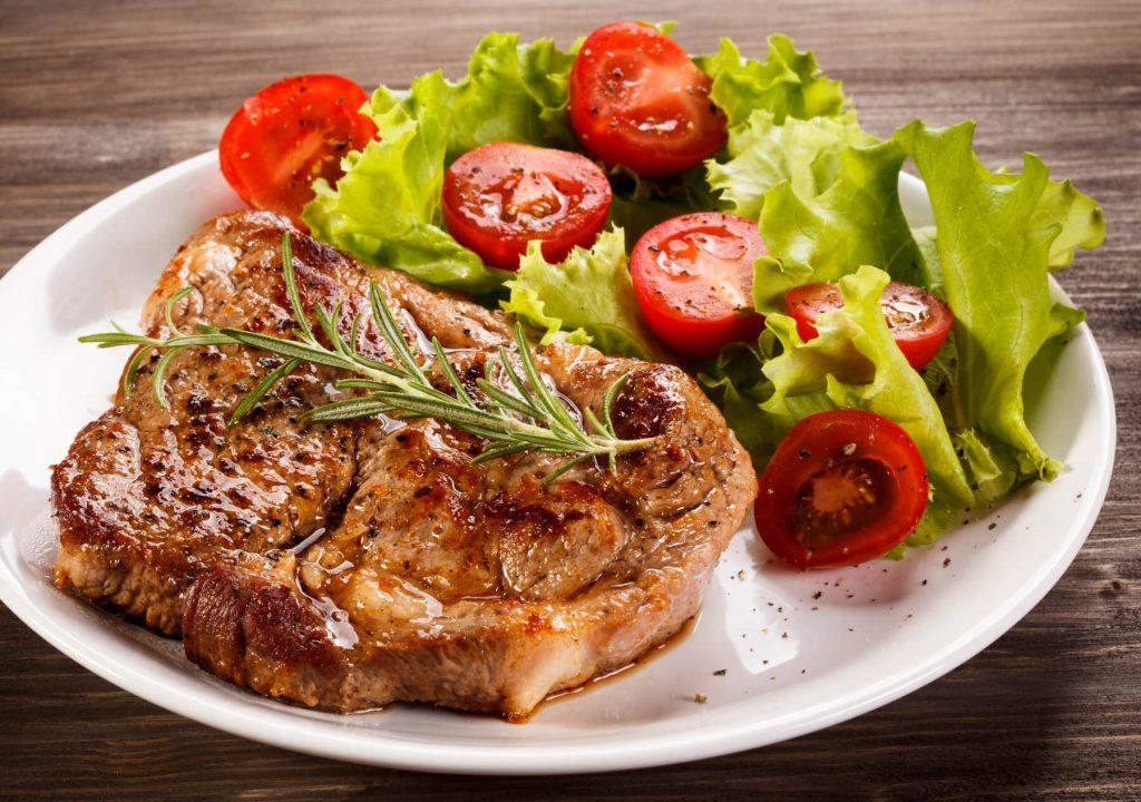 Instant Pot Pork Chops with side salad