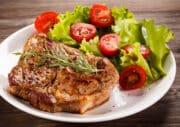 instant pot pork chops with side salad scaled