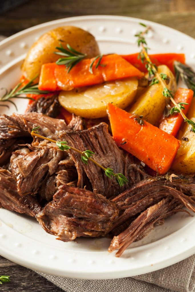 Instant Pot Pot Roast with carrots and potatoes. Ready to eat tender Instant Pot beef roast.