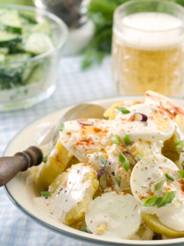 Instant Pot Potato Salad with Eggs and Mayo