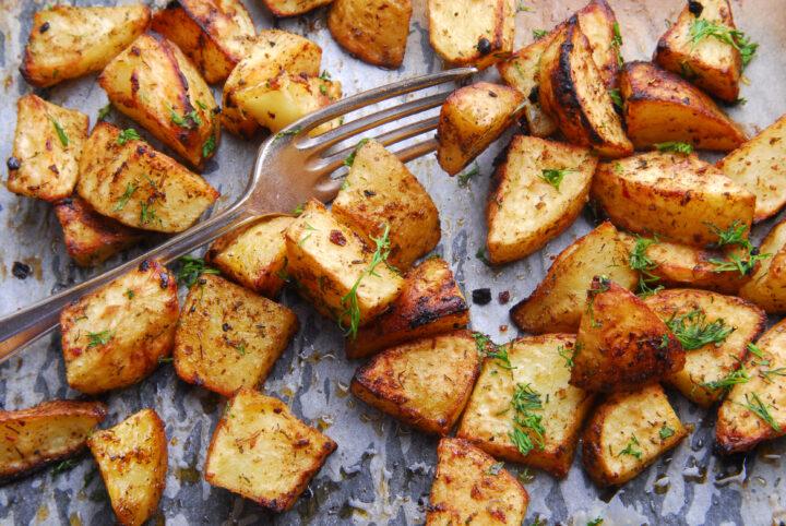 oven roast potatoes sheetpan