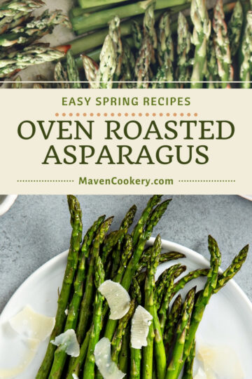 This roasted asparagus recipe is remarkably simple to make and outstanding to eat. For a simple side dish that uses a bright spring vegetable, this roasted asparagus is perfect. #asparagus #roastedasparagus #ovenroastedasparagus #roastedvegetables #springvegetables #springrecipes