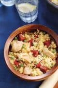 paella in bowl