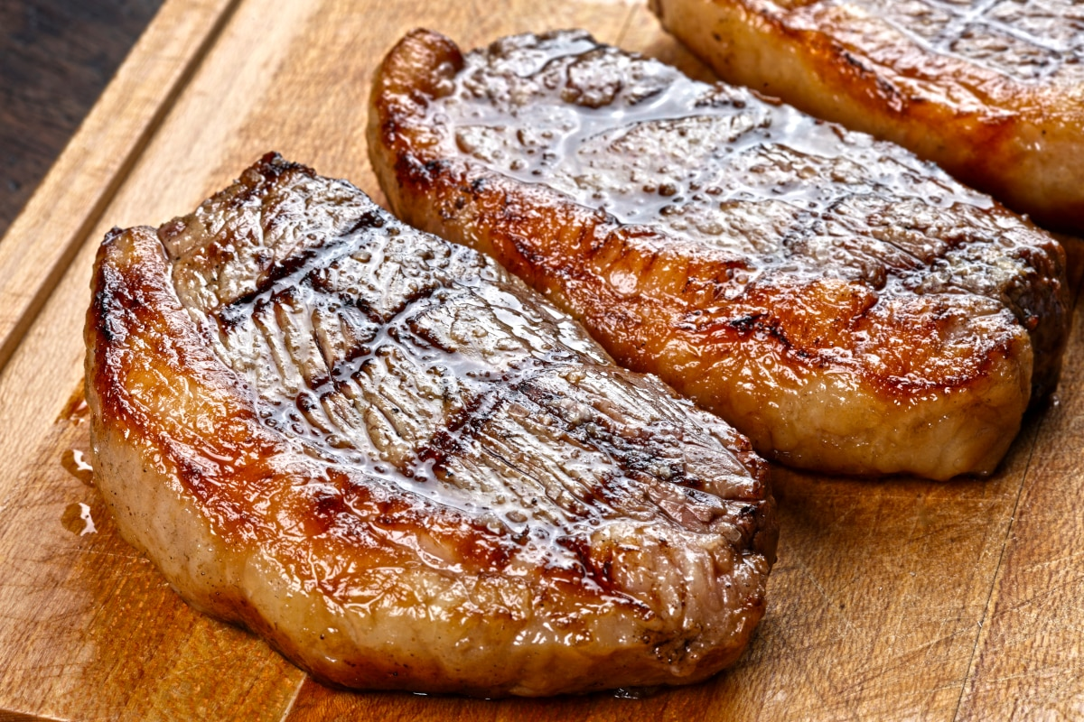 picanha steaks resting on a cutting board